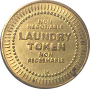 Laundry Token (No Cash Value) – obverse