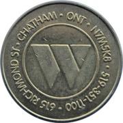 Token - Wheels Entertainment Center (Chatham, Ontario) – reverse