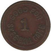 1 Skee-Ball Game - D.P. Co. Ltd. (Montréal, Québec) – reverse