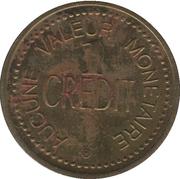 1 Credit - Cinémas Fortune (Québec) – reverse