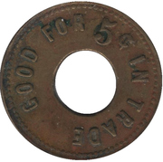 5 Cents - Canada Mint Co. (Lethbridge, Alberta) – reverse