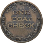 Token - International Coat-Check Corp. Ltd. (Vancouver, BC) – reverse