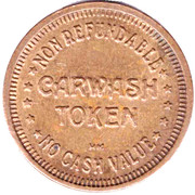 Carwash Token - Gold Star (Richmond, British Columbia) -  reverse