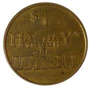 1 Dollar Dog Wash Token - Hachey's Truck & Car Wash – reverse