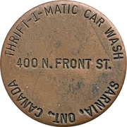Car Wash Token - Thrift-I-Matic (Sarnia, Ontario) – obverse