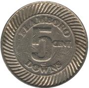 5 Cents - Flamboro Downs (Hamilton, Ontario) – reverse