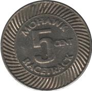 5 Cents - Mohawk Racetrack (Campbellville, Ontario) – reverse