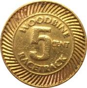 5 Cents - Woodbine Racetrack (Etobicoke, Ontario) – reverse