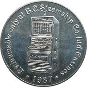 Casino Token - British Columbia Steamship Company – reverse