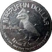 MacPuffin Dollar - Cape Breton Island, Nova Scotia -  reverse