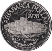 Athabasca Dollar - Athabasca, Alberta – reverse