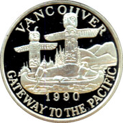 20 Dollars / Vancouver Trade Dollar – reverse