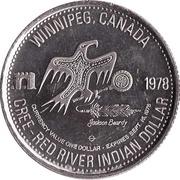Red River Indian Dollar - Winnipeg, Manitoba -  obverse
