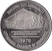 1 Dollar - Lethbridge, Alberta – reverse