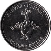 Souvenir Dollar - Jasper, Alberta – reverse