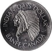 Indian Days Dollar - Banff, Alberta – obverse