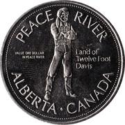 1 Dollar - Peace River, Alberta – reverse