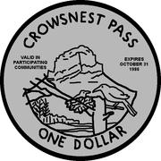 1 Dollar - Crowsnest Pass, Alberta -  obverse