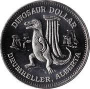Dinosaur Dollar - Drumheller, Alberta – reverse