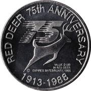 1 Dollar - Red Deer, Alberta – reverse