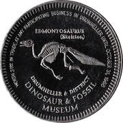 Dinosaur Dollar - Drumheller, Alberta – obverse