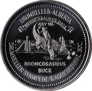 Broncosaurus Buck - Drumheller, Alberta – obverse
