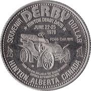 Souvenir Dollar - Hinton, Alberta – reverse