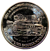 Commemorative Dollar - Alexander Graham Bell National Historic Park (Bell & Baldwin's Hydrofoil HD-4) – reverse