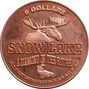 5 Dollars - Snow Lake, Manitoba – reverse