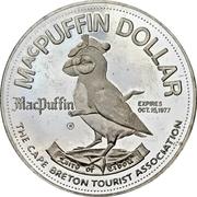 MacPuffin Dollar - Cape Breton, Nova Scotia -  obverse