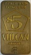 5 Dollars - Vulcan – obverse