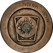Masonic Penny - Beaches Chapter No. 163 (Toronto, Ontario) – reverse