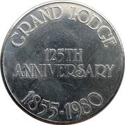 Token - Grand Lodge 125th Anniversary – reverse