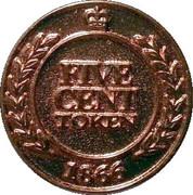 5 Cent Token - Upper Canada Village – reverse