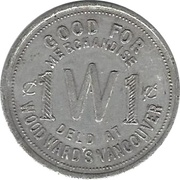 1 Cent - Woodward's – obverse