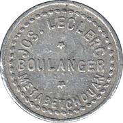½ Pain - Jos. Leclerc, boulanger (Metabetchouan, Québec; with stars) – obverse