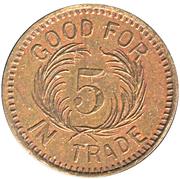5 Cents - Olcott Novelty Co. (Québec, Québec) – reverse