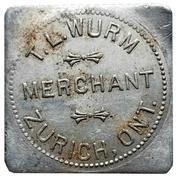 50 Cents - T.L. Wurm (Zurich, Ontario) – obverse