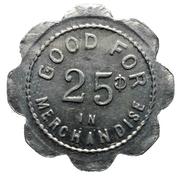 25 Cents - J. Gascho & Son (Zurich, Ontario) – reverse
