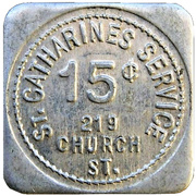15 Cents - St. Catharines Service (Ontario) – obverse