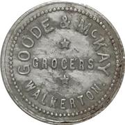 5 Cents - Goode & McKay (Walkerton, Ontario) – obverse