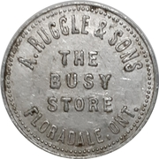 50 Cents - A. Ruggle & Sons (Floradale, Ontario) – obverse