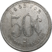 50 Cents - A. Ruggle & Sons (Floradale, Ontario) – reverse