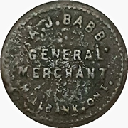1 Cent - A.J. Babb (Milbank, Ontario) – obverse