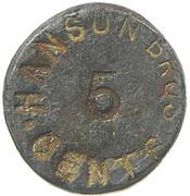 5 Cents - Hanson Brothers (New Brunswick) – obverse