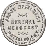 5 Cents - Jacob Uffelmann (Waterloo, Ontario) – obverse