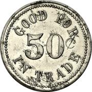 50 Cents - George McKnight (Magnetawan, Ontario) – reverse