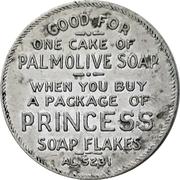 Token - 1 Cake of Palmolive Soap (Toronto, Ontario) – obverse
