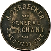 25 Cents - J. Derbecker (Neustadt, Ontario) – obverse