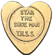 50 Cents Shoe Token - Stan the Shoe Man (Brantford, Ontario) – obverse